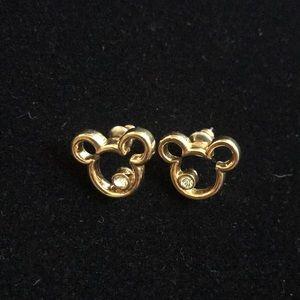 Disney Gold Tone Mickey Mouse Earrings
